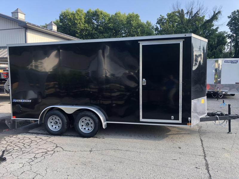 2019 Wells Cargo 7x14' Road Force Enclosed Cargo Trailer 7000# GVW * SILVER * RAMP DOOR * V-NOSE * .030 * 1 PC ALUM ROOF * 7' HEIGHT UTV PKG* TUBE STUDS * SCREWLESS * ARMOR GUARD