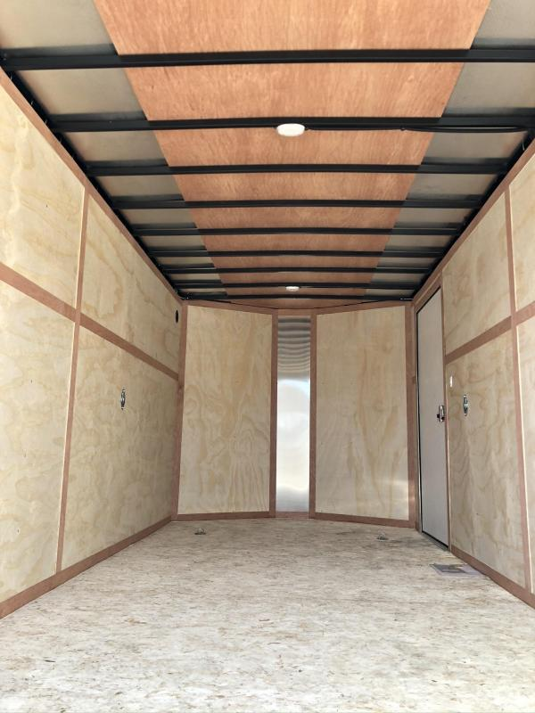 "2019 Wells Cargo 7x14' Road Force Enclosed Cargo Trailer 7000# GVW * BLACK EXTERIOR * RAMP DOOR * V-NOSE * SCREWLESS .030 EXTERIOR * 6'6"" HEIGHT * TUBE STUDS * 1 PC ROOF * 16"" O.C. WALLS/FLOOR * RV DOOR * ARMOR GUARD * BULLET LED'S * CLEARANCE"