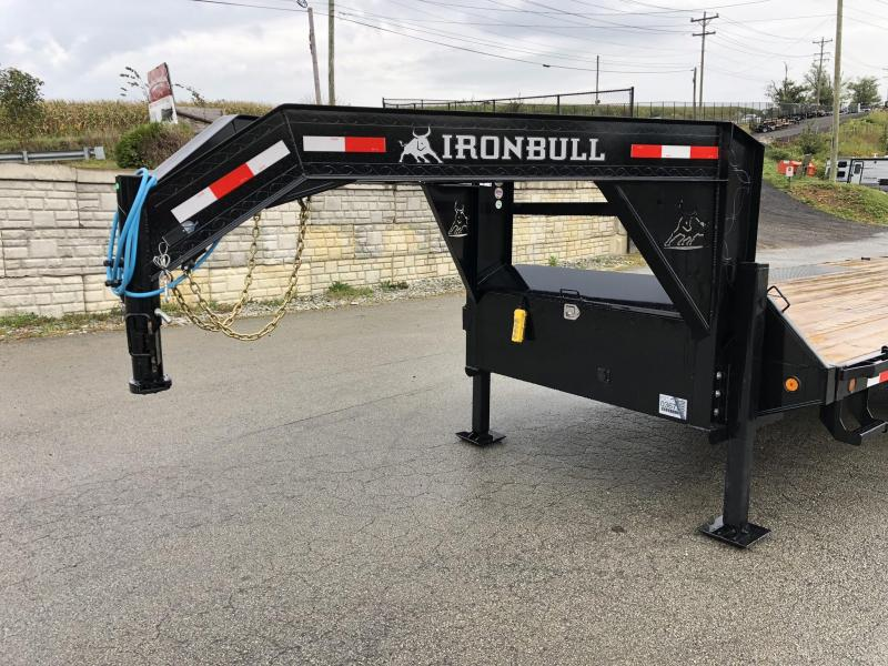 "2020 Ironbull 102""x26' Gooseneck Deckover Power Tilt 21000# GVW * HYDRAULIC JACKS * SCISSOR HOIST * WINCH PLATE * TRIPLE AXLE * SLIDING WINCH TRACK"