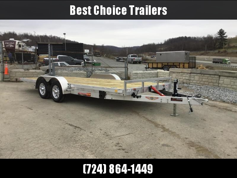 "2018 H&H 7x20' MXA Aluminum Manual Tilt Car Hauler Trailer 7000# GVW * TOOLBOX * SPARE MT * ALUMINUM WHEELS * 6"" FRAME * REMOVABLE FENDERS * CLEARANCE"