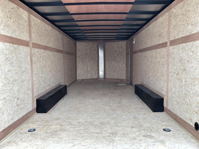 2020 Wells Cargo 8.5x16' Fastrac DELUXE Enclosed Car Trailer 7000# GVW * BLACK EXTERIOR * RAMP DOOR * .030 METAL