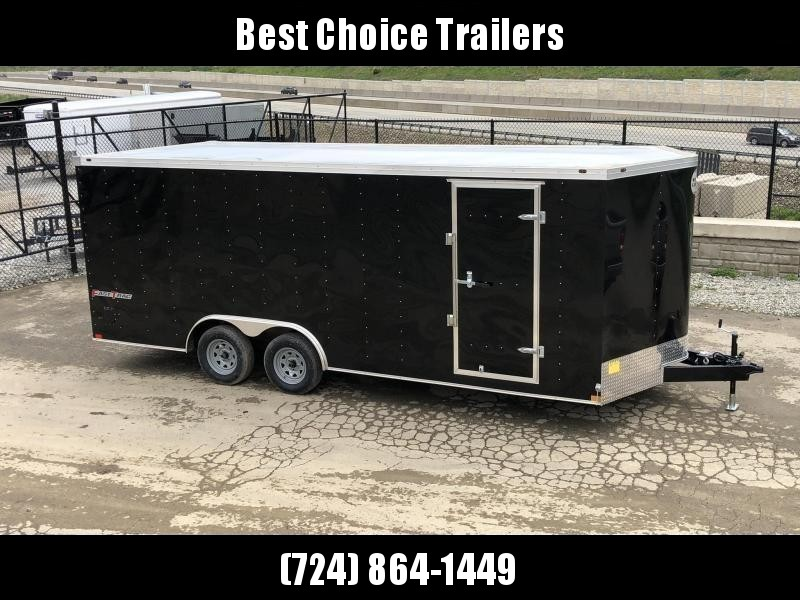 2020 Wells Cargo 8.5x16' Fastrac DELUXE Enclosed Car Trailer 7000# GVW * BLACK EXTERIOR * RAMP DOOR * .030 METAL