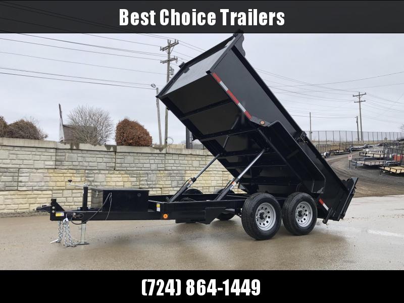 2020 QSA 6x12' Low Profile Dump Trailer 9850# GVW * 2' SIDES * DUAL PISTON * OVERSIZE TOOLBOX * DROP LEG JACK * FRONT/REAR BULKHEAD