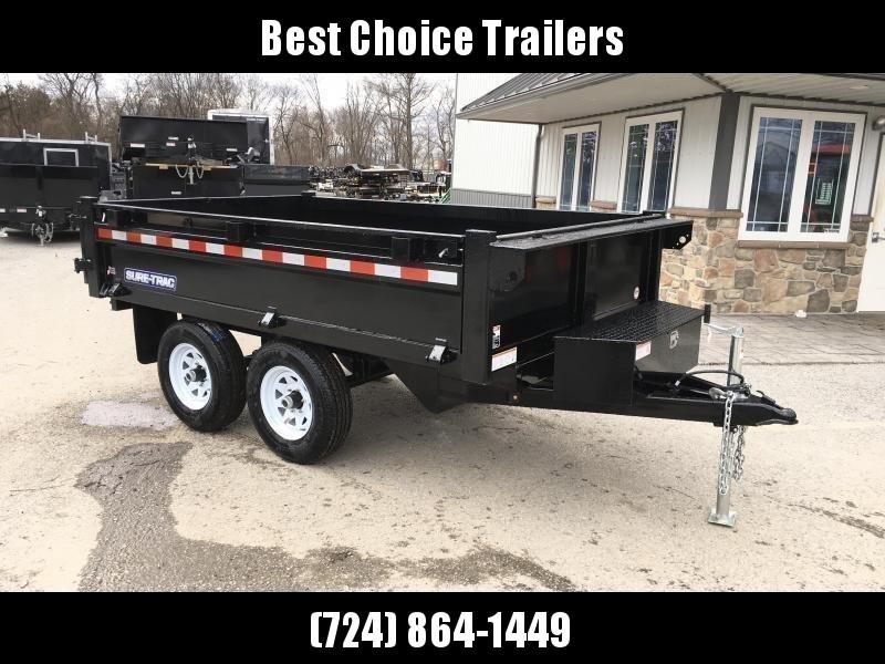 "2019 Sure-Trac 6x10' SD Deckover Dump Trailer 9900# GVW * FOLD DOWN SIDES * 20"" SIDES * BARN DOORS * CLEARANCE - FREE ALUMINUM WHEELS"