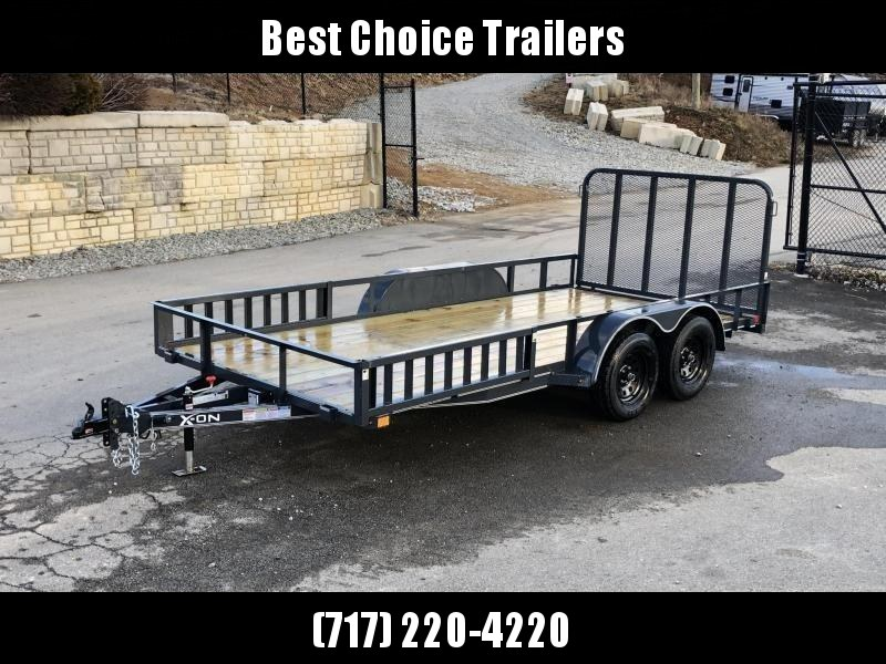2019 X-On 7x16' Utility Landscape Trailer 7000# GVW * ATV RAMPS * CHARCOAL * CLEARANCE