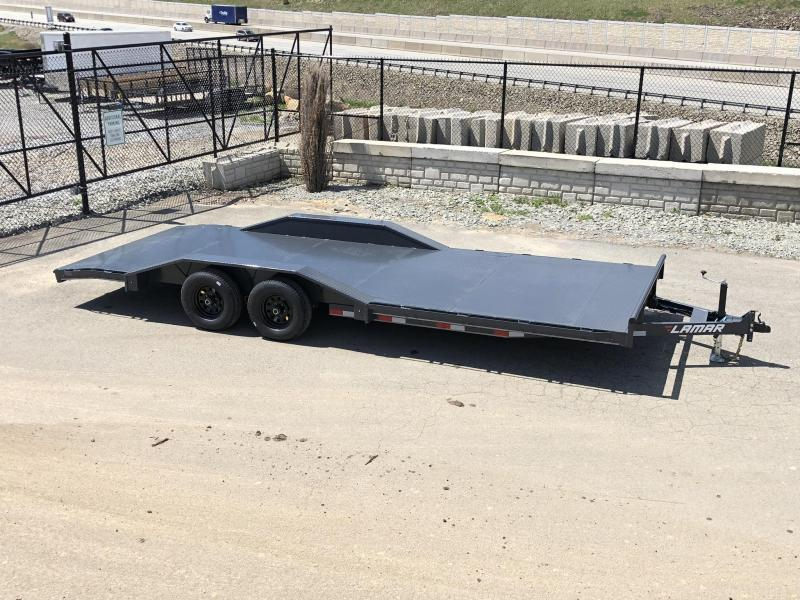 "2020 Lamar 102x22' CC10 Car Trailer 9990# GVW * 102"" DECK * DRIVE OVER FENDERS * STEEL DECK * CHARCOAL POWDERCOATING * 7K DROP LEG JACK"