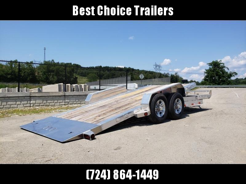 2020 Ironbull 7x20 Aluminum Gravity Tilt Equipment Trailer 14000# GVW * 16+4' SPLIT DECK * STACKED ALUMINUM FRAME * DEXTER TORSION AXLES * STOP VALVE * ALUMINUM WHEELS * RUBRAIL/STAKE POCKETS/CHAIN SPOOLS/D-RINGS * REMOVABLE FENDERS * 12K JACK