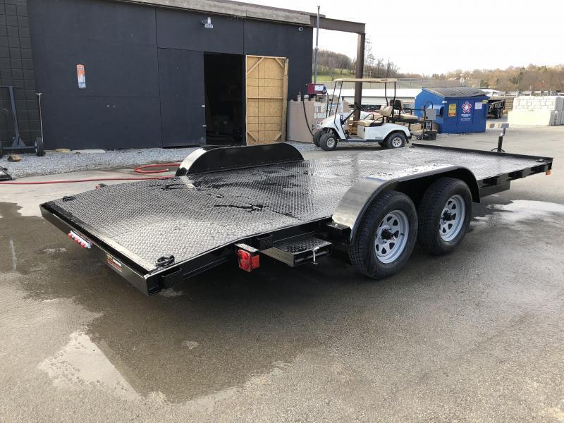 2019 AMO 7x16' Steel Deck Car Trailer 7000# GVW * CLEARANCE