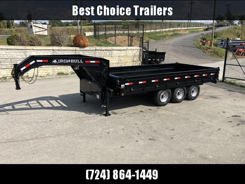 2020 Ironbull Gooseneck Deckover Dump Trailer 8x16' 24000# GVW * TARP KIT * TRIPLE AXLE * 8000# AXLES