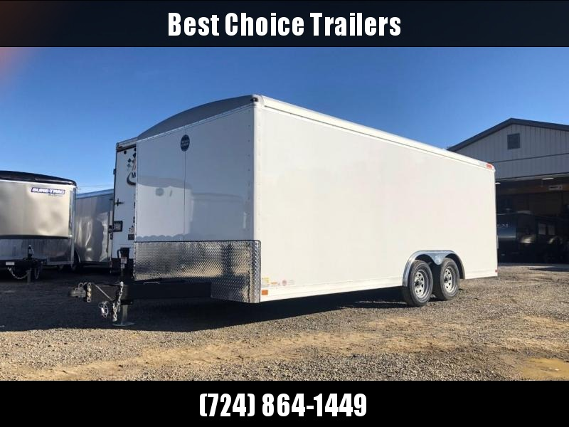 2019 Wells Cargo 8.5x20' Enclosed Cargo Trailer * WHITE * SCREWLESS EXTERIOR * 1 PIECE ROOF * TORSION * ADJUSTABLE COUPLER * DROP LEG JACK * ARMOR GUARD * OVERSIZE TRIM