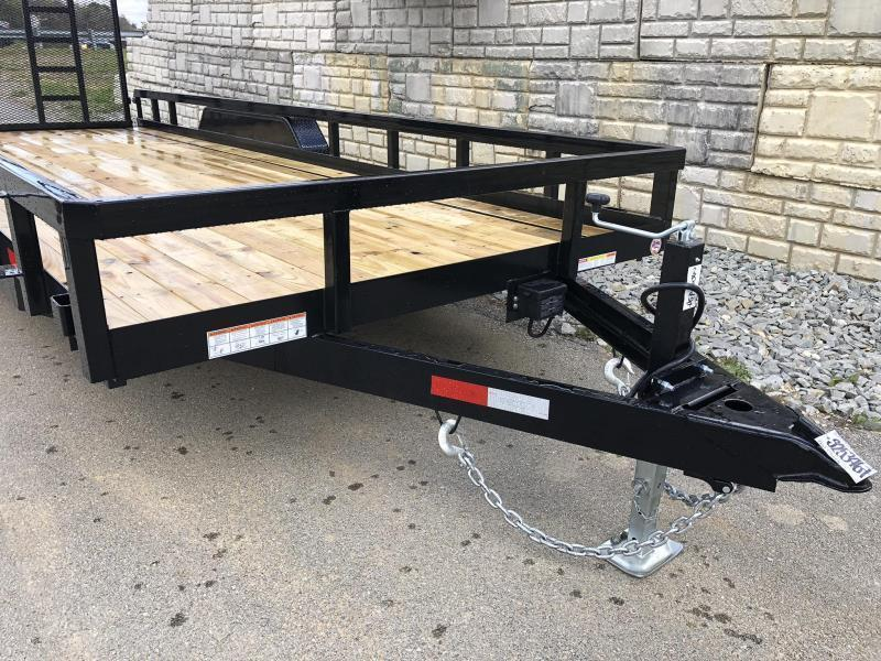 """2020 Sure-Trac 7x20 Tube Top Utility Landscape Trailer 9900# GVW * 5' GATE * PROFESSIONAL LANDSCAPE SERIES * HD REINFORCED GATE+SPRING ASSIST * 5"""" TONGUE & FRAME * 7K JACK * 2X3"""" TUBE TOP RAIL * SPARE MOUNT * PROTECTED WIRING * TRIPLE TONGUE * STAKE POCKE"""