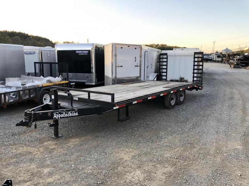 USED 2013 Appalachian 102x22' Beavertail Flatbed Deckover * I-BEAM FRAME * TOOLBOX * POP UP DOVETAIL