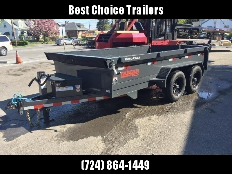 2020 Lamar DM 77x12' 9990# Low Profile Dump Trailer * DELUXE TARP KIT * ADJUSTABLE COUPLER * CHARCOAL  * SPARE MT