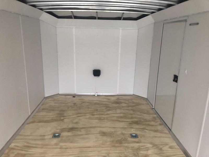 2020 NEO 8.5x24' NACX Aluminum Enclosed Car Hauler Trailer 9990# GVW * SILVER EXTERIOR * ESCAPE DOOR * 5200# TORSION * BULLNOSE * SPREAD AXLE * DRT REAR SPOILER * NXP RAMP * ROUND TOP * HD FRAME * ALUMINUM WHEELS * RV DOOR * 1 PC ROOF