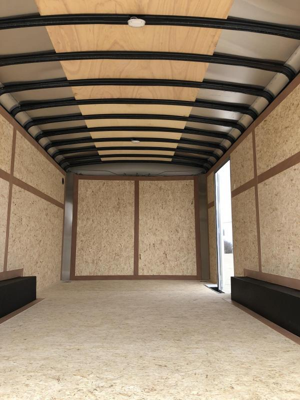 2020 Wells Cargo 8.5x16' Road Force Enclosed Cargo Trailer 7000# GVW * WHITE EXTERIOR * RAMP DOOR * COMMERCIAL MODEL
