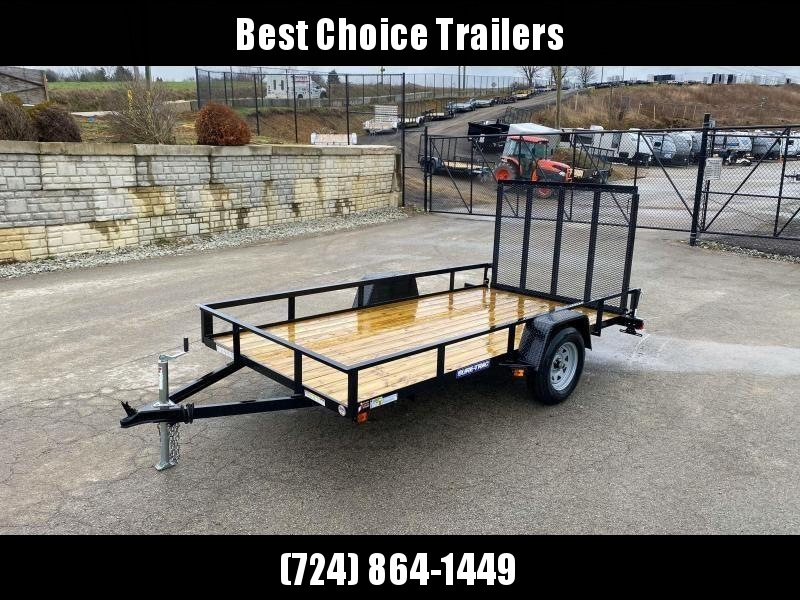"2020 Sure-Trac 6x10' Utility Landscape Trailer 2990# GVW * 2X2"" TUBE GATE C/M + FOLD FLAT * TOOLESS GATE REMOVAL * CHANNEL TONGUE * REAR BOARD RETAINER * HD FENDERS * ZINC JACK * RADIAL TIRES * POWDERCOATED"