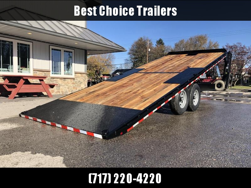2020 Sure-Trac 102x22' Power Tilt Deckover 15000# GVW * WINCH PLATE * OAK DECK