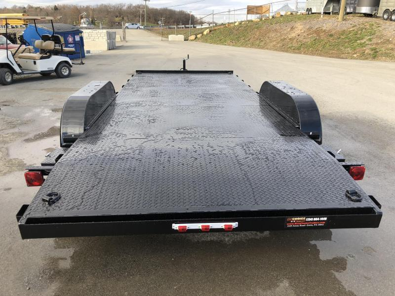 2020 AMO 7x16' Steel Deck Car Trailer 7000# GVW