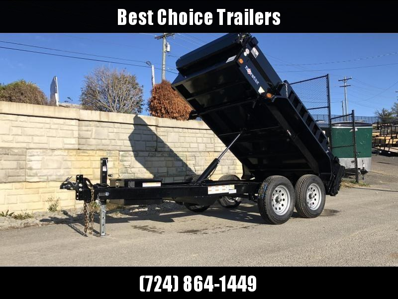 2020 Ironbull 5x10' Dump Trailer 7000# GVW * DXB6010032 * TARP KIT * RAMPS * 110V CHARGER * ADJUSTABLE COUPLER * DROP LEG JACK