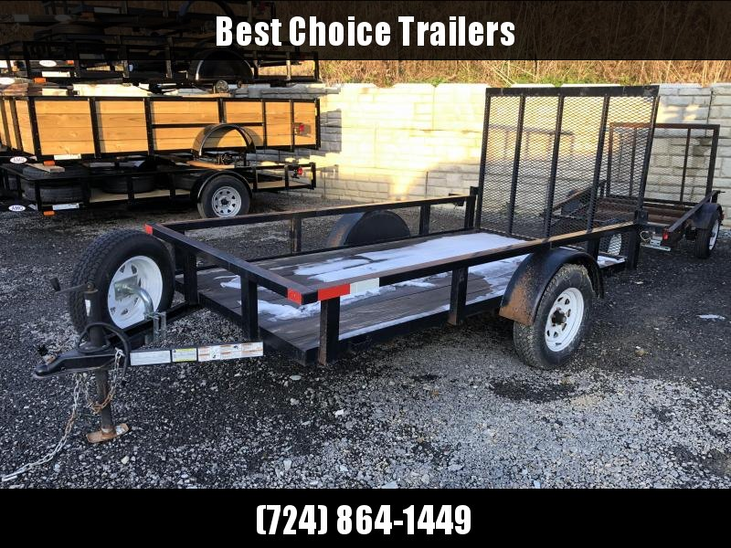USED 2011 Top Brand 5x10' Utility Landscape Trailer 2990# GVW * GATE 4' * TUBE TOP * SPARE TIRE