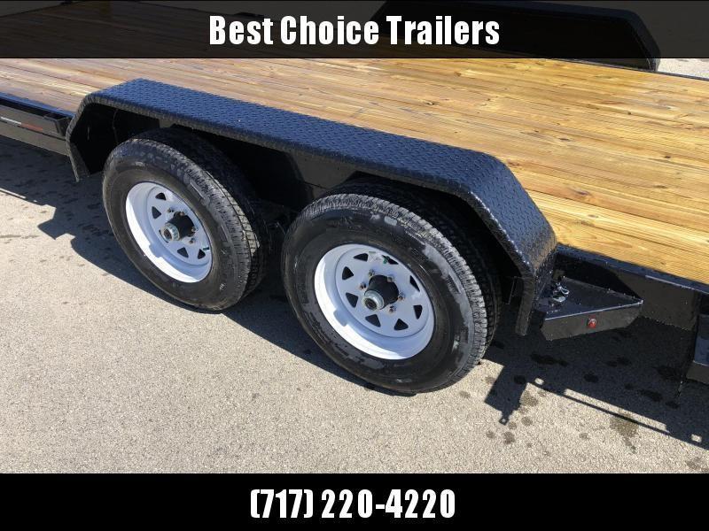 "2020 Sure Trac 7x18' Manual Tilt Car Trailer 7000# GVW * DIAMOND PLATE FENDERS * 5"" TUBE TONGE/FRAME * SEALED WIRING HARNESS * 7K SET BACK JACK * STAKE POCKETS/D-RINGS/RUBRAIL * REMOVABLE FENDER * UNDER FRAME BRIDGE"