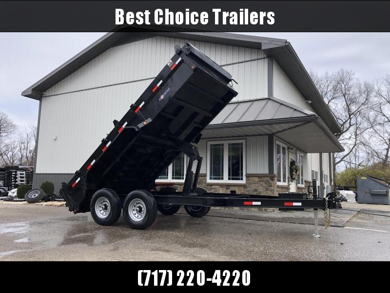 2020 Ironbull 7x14' Dump Trailer 14000# GVW * RAMPS * TARP * SCISSOR * I-BEAM FRAME * 3-WAY GATE * CLEARANCE