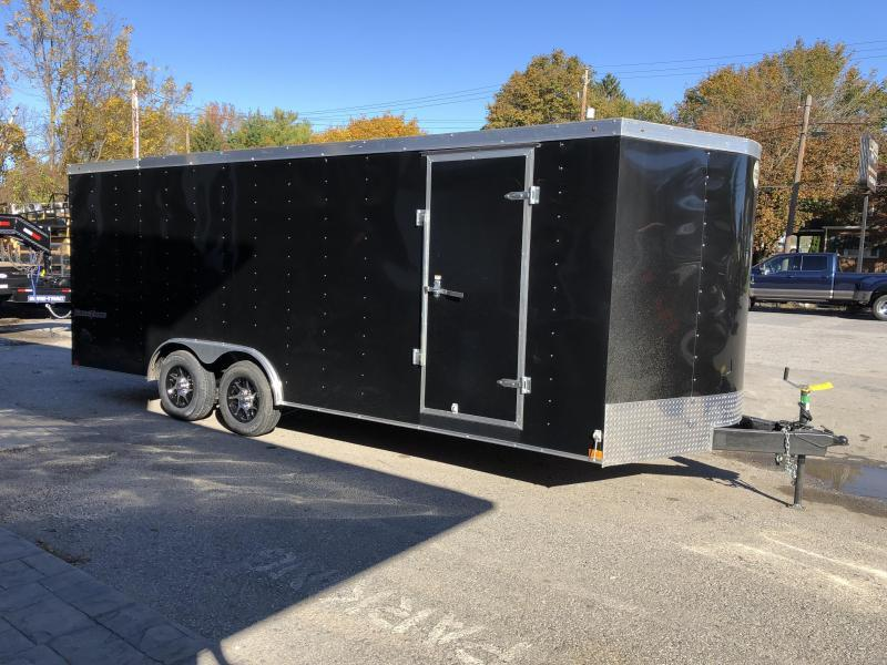 """2020 Wells Cargo 8.5x24' Fastrac DELUXE Enclosed Cargo Trailer 9990# GVW * BLACK EXTERIOR * 5200# AXLES * RAMP DOOR * V-NOSE * .030 EXTERIOR * 6'6"""" HEIGHT * TUBE STUDS * 3/8"""" WALLS * 1 PC ROOF * 16"""" O.C. WALLS * BULLET LED'S"""