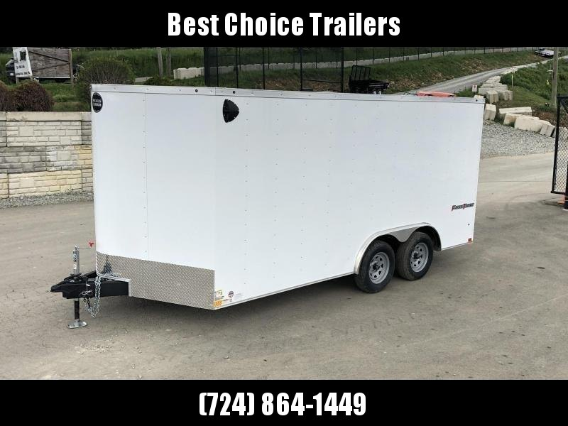 2020 Wells Cargo 8.5x16' Fastrac DELUXE Enclosed Car Trailer 7000# GVW *  WHITE EXTERIOR * RAMP DOOR