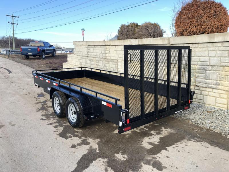 2019 Sure-Trac 7x16' Steel High Side Utility Trailer 7000# GVW * CLEARANCE * TOOLBOX