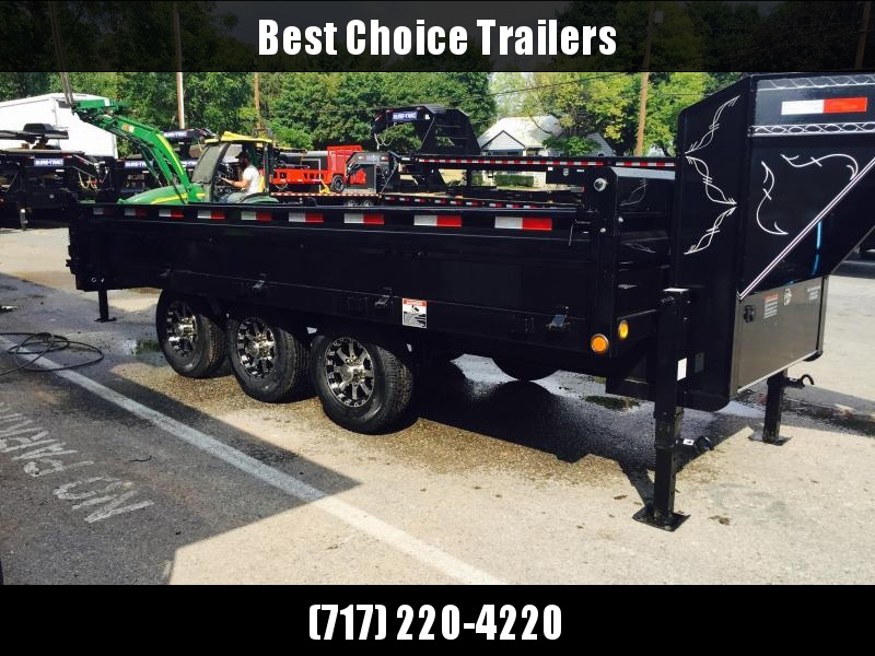 2019 Load Trail  Dump Trailer * GZ9616073 * I-BEAM FRAME * TARP * SCISSOR * FOLD DOWN SIDES * 3-WAY GATE * ALUMINUM WHEELS
