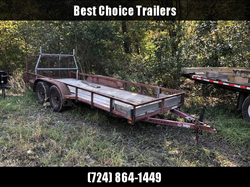 USED 2007 Mustang Trailers 16' Utility Landscape Trailer