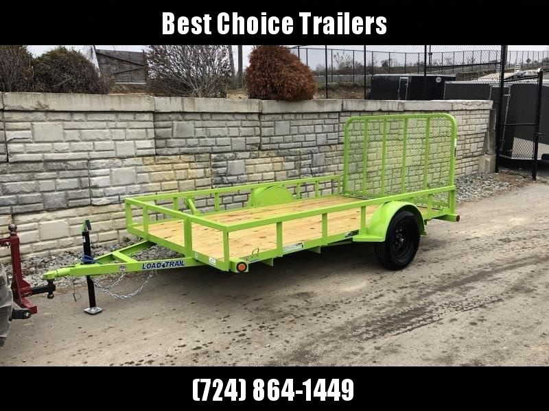 2020 Load Trail 6.5x12' Utility Landscape Trailer 2990# GVW * NEON GREEN * TUBE TOP RAIL * TUBE BUMPER * TUBE GATE C/M * PRIMER + POWDERCOAT * 2-3-2 WARRANTY * DEXTER AXLES * SEALED HARNESS * TIE DOWNS * SEALED HARNESS * CAST COUPLER