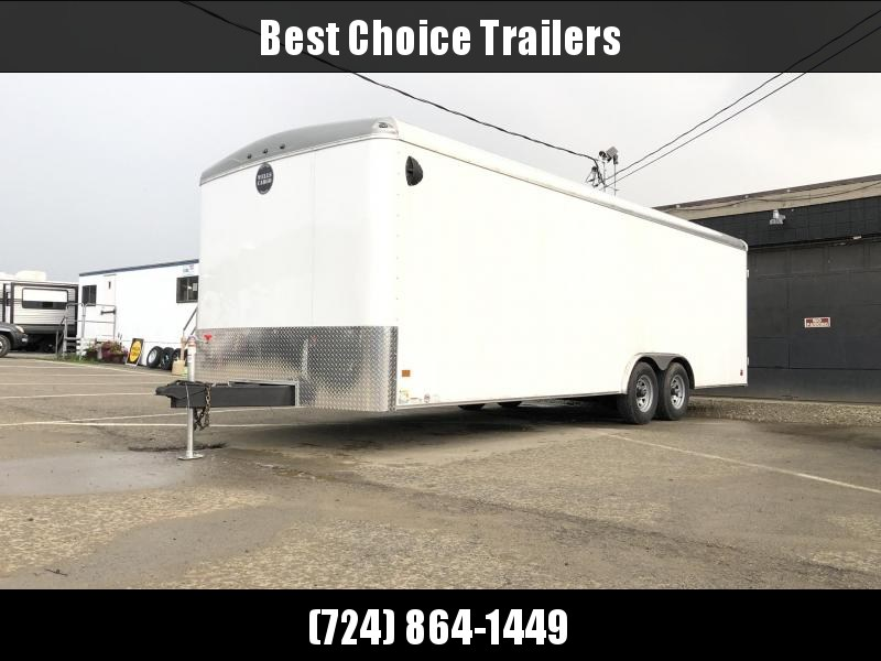 2019 Wells Cargo 8.5x24' RoadForce Enclosed Car Trailer 9990# GVW * WHITE * RAMP DOOR * ROUND TOP * SCREWLESS * CLEARANCE