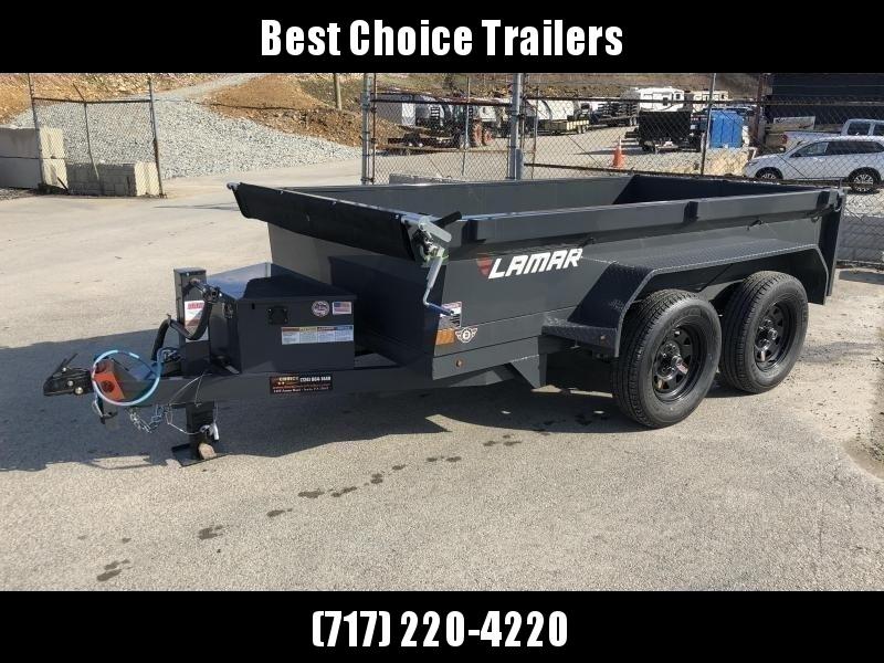 2020 Lamar 5x10' DS60 Dump Trailer 7000# GVW - DELUXE * 12K JACK * RAMPS * TARP * SPARE MOUNT