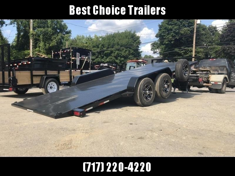 2020 Sure Trac 7x20' 9900# POWER Tilt Car Trailer * ST8220CHWPT-B-100 * STEEL DECK UPGRADE * FREE ALUMINUM WHEEL UPGRADE
