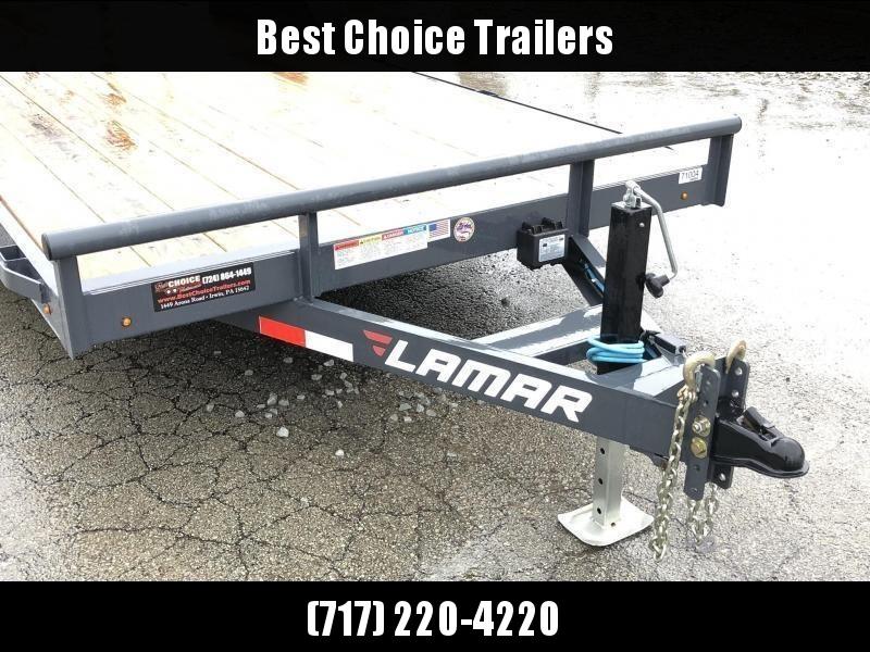 2019 Lamar 7x18' CC10 Car Trailer 9990# GVW RUBRAIL * REMOVABLE FENDERS  * CHARCOAL POWDERCOATING * 7K DROP LEG JACK