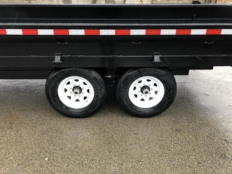 2020 Sure-Trac 8x16' HD Gooseneck Deckover Dump Trailer 14000# GVW * FOLD DOWN SIDES * I-BEAM NECK * FULL TOOLBOX