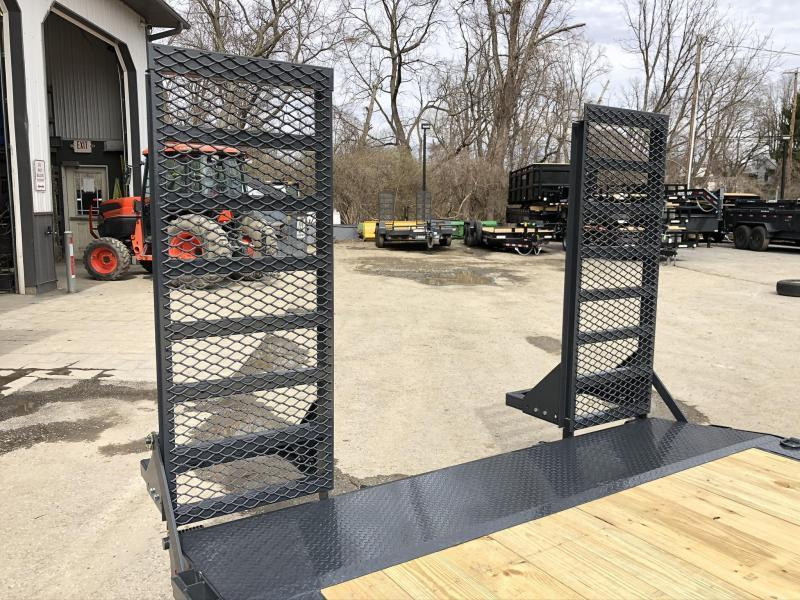 """2020 Lamar 102x20' Equipment Trailer 14000# GVW * DELUXE RAMPS * CHARCOAL * 102"""" DECK * DRIVE OVER FENDERS * CHARCOAL * D-RINGS"""