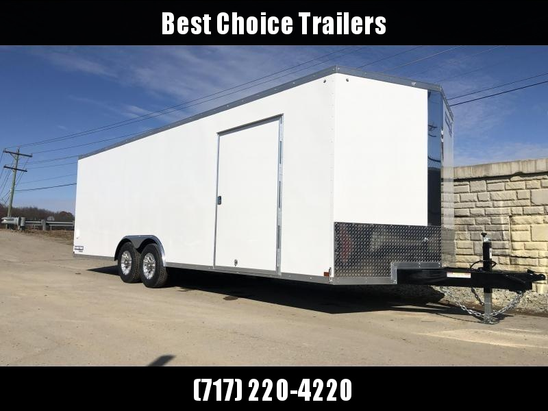 2020 Sure-Trac 8.5x24' Enclosed Car Trailer 9900# GVW * WHITE * 7K DROP LEG JACK