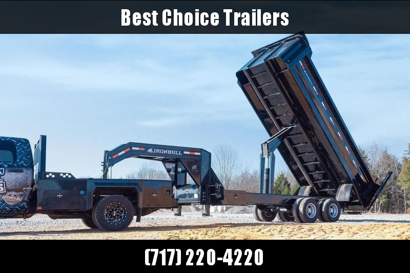 2019 Ironbull 8x20 Gooseneck Deckover Dump Trailer 22000# GVW Frankendump * TANDEM DUAL * ROCK BODY * TRUCK STYLE HD TARP KIT * DUAL BATTERY * CLEARANCE