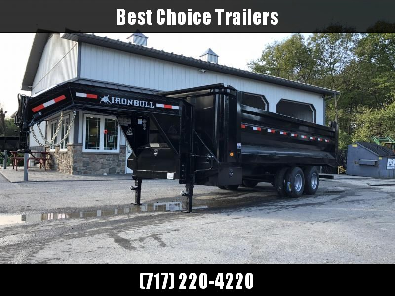 2019 Ironbull 8x20 Gooseneck Dump Trailer 22000# GVW Frankendump * TANDEM DUAL * ROCK BODY * TRUCK STYLE HD TARP KIT * DUAL BATTERY * CLEARANCE