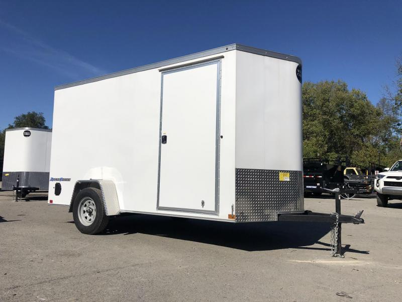 "2019 Wells Cargo 6x12' Road Force Enclosed Cargo Trailer 2990# GVW * WHITE EXTERIOR * RAMP DOOR * SCREWLESS .030 EXTERIOR * 1PC ALUM ROOF * 6'6"" HEIGHT * TUBE STUDS * 16"" O.C WALLS * ARMOR GUARD TONGUE"