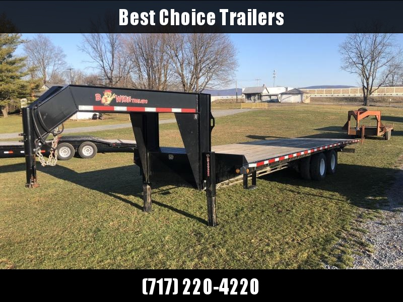 USED 2013 B-Wise Gooseneck Deckover Hydraulic Dovetail 102x30' 20000# GVW * DEXTER AXLES * EOH DISC BRAKES * UNDER FRAME BRIDGE * HYDRAULIC JACKS