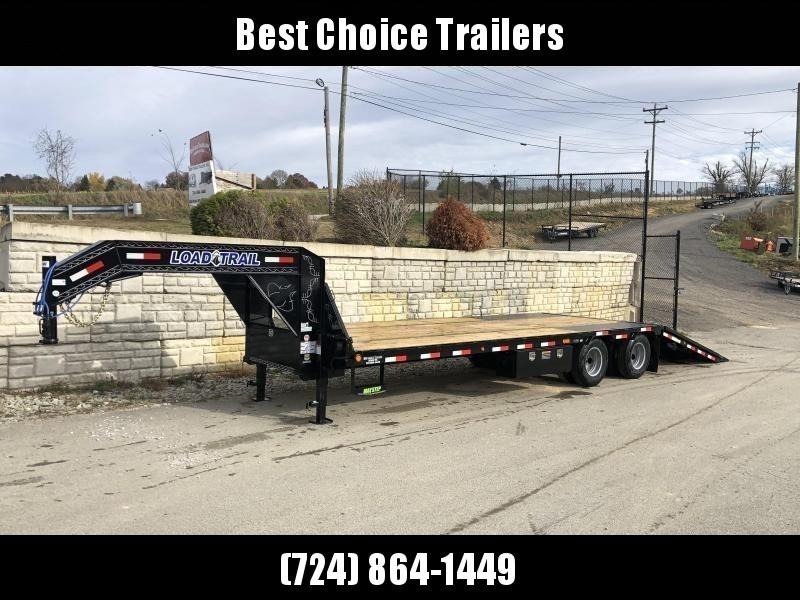 2020 Load Trail 102x32' Gooseneck Deckover Hydraulic Dovetail Trailer 25990# * GL0232122 * HYDRAULIC JACKS * 12000# AXLES * DEXTER HDSS SUSPENSION * WINCH PLATE * BLACKWOOD * 2-3-2 * ZINC PRIMER * CLEARANCE