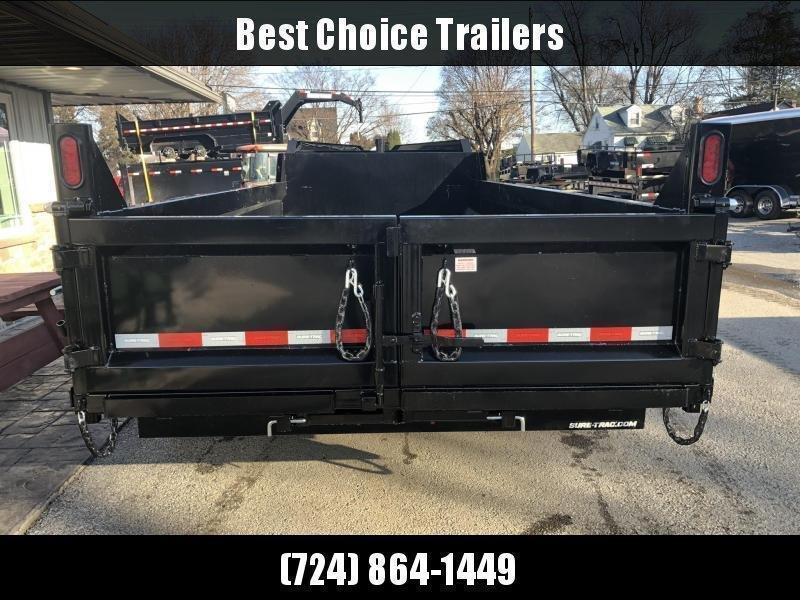 2020 Sure-Trac 7x16' 16000# Low Profile HD GOOSENECK Dump Trailer * TELESCOPIC HOIST * 8000# AXLE UPGRADE