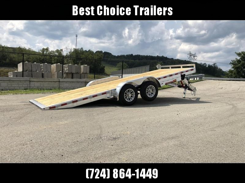 "2020 H&H 7x20' MXA Aluminum Manual Tilt Car Hauler Trailer  9990# GVW * ALUMINUM WHEELS * HEAVY DUTY 8"" FRAME * REMOVABLE FENDERS"