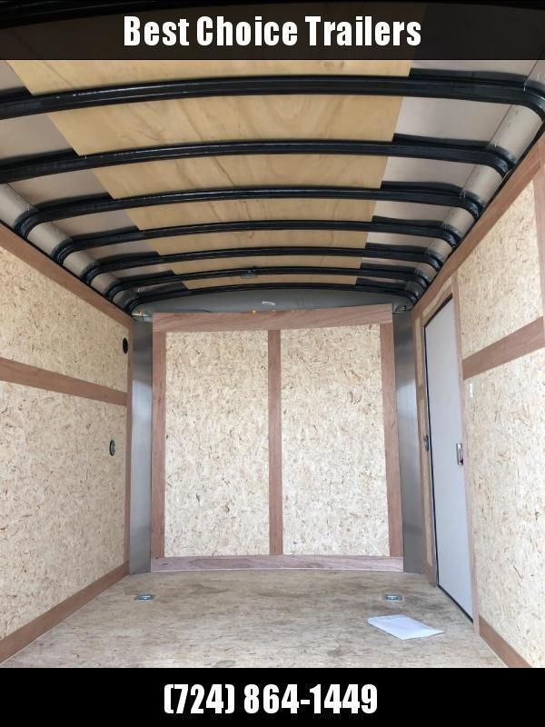 "2020 Wells Cargo 7x16' Road Force Enclosed Cargo Trailer 7000# GVW * WHITE EXTERIOR * RAMP DOOR * ROUND TOP * SCREWLESS .030 EXTERIOR * 6'6"" HEIGHT * TUBE STUDS * 1 PC ROOF * 16"" O.C. WALLS/FLOOR * RV DOOR * ARMOR GUARD * BULLET LED'S"