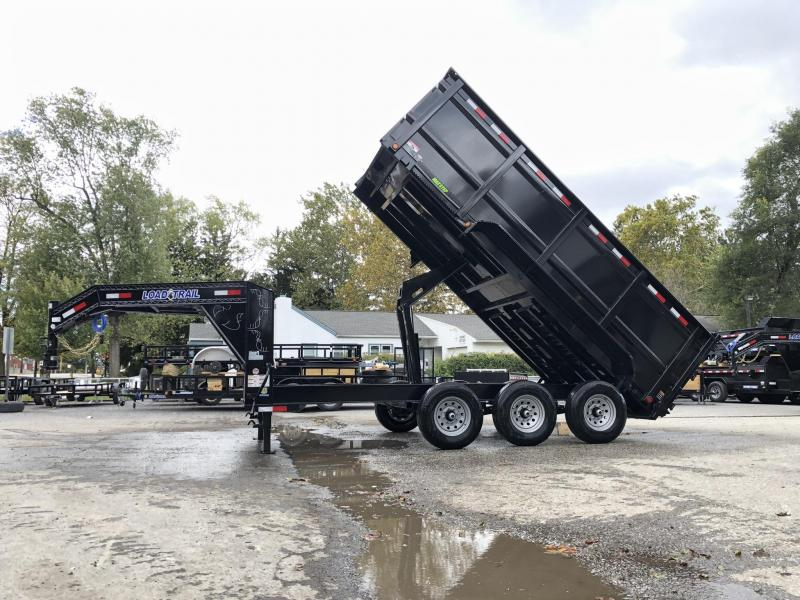 "2020 Load Trail 7x16' Gooseneck Dump Trailer 21000# GVW * GD8316073 * 4' HIGH SIDES * 8"" I-BEAM FRAME * 12K JACKS * 3-WAY GATE * TARP KIT * OVERSIZE 6X21"" SCISSOR HOIST * 10GA 2PC SIDES & FLOOR * 6"" TUBE BED FRAME * DEXTER'S"