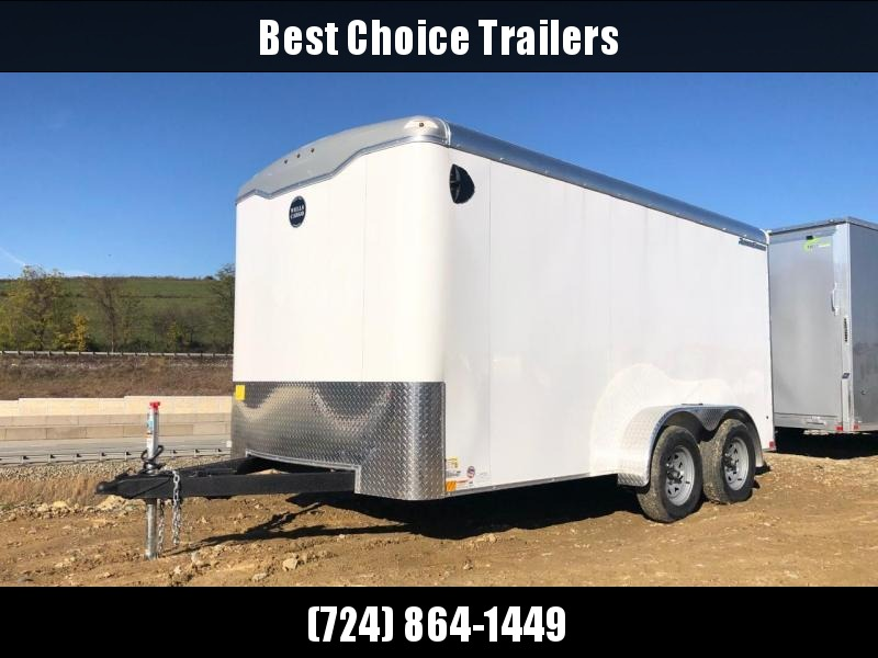 """2020 Wells Cargo 7x14' Road Force Enclosed Cargo Trailer  7000# GVW * RF714T2 * ROUND TOP * SCREWLESS .030 EXTERIOR * 1 PIECE ROOF * RV DOOR * 6'6"""" HEIGHT * ARMOR GUARD * WHITE"""