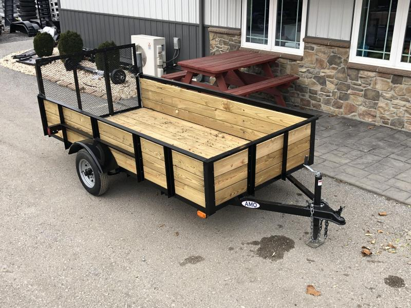 2020 AMO 5x10' Wood High Side Angle Iron Utility Landscape Trailer 2200# GVW